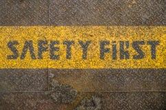 Sicherheit erste Lizenzfreie Stockfotos