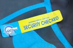 Sicherheit geüberprüft Stockfoto