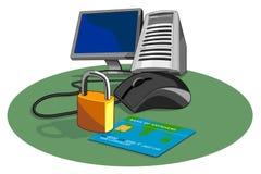 Sicherheit im Internet stock abbildung
