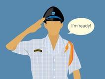 Sicherheit-in-sleepwear-Hälfte-Körper Lizenzfreies Stockbild