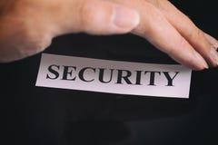 Sicherheit von Personendaten Stockbild