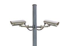 Sicherheits-Überwachungskamera und städtisches Video am allgemeinen Park Lizenzfreie Stockbilder