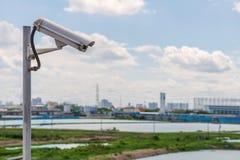 Sicherheits-Überwachungskamera und städtisches Video, elektronisches Gerät Stockbild