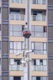 Sicherheits-Überwachungskamera und städtisches Video, elektronisches Gerät Stockfoto