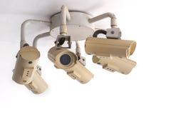 Sicherheits-Überwachungskamera und städtisches Video, elektronisches Gerät Lizenzfreie Stockfotos