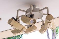 Sicherheits-Überwachungskamera und städtisches Video, elektronisches Gerät Lizenzfreie Stockbilder