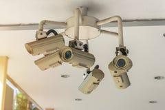 Sicherheits-Überwachungskamera und städtisches Video, elektronisches Gerät Lizenzfreies Stockbild
