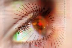 Sicherheits-Auge Lizenzfreies Stockbild