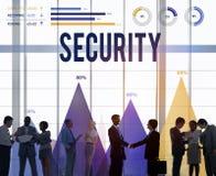 Sicherheits-Datenschutzerklärungs-Schutz-Geheimhaltungs-Konzept stockfotografie