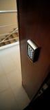 Sicherheits-elektronische Tür-Verriegelung lizenzfreies stockbild