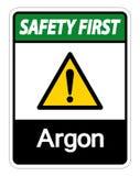 Sicherheits-erstes Argon-Symbol-Zeichen-Isolat auf weißem Hintergrund, Vektor-Illustration lizenzfreie abbildung