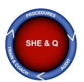 Sicherheits-, Gesundheits-, Umgebungs-und Qualitätsdiagramm Lizenzfreies Stockfoto