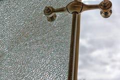 Sicherheits-Glas gebrochen Lizenzfreies Stockfoto