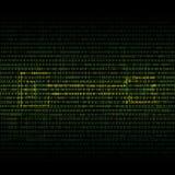 Sicherheits-Grünhintergrund der abstrakten Technologie binärer Lizenzfreies Stockfoto