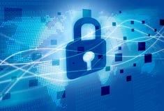 Sicherheits-Hintergrund stock abbildung