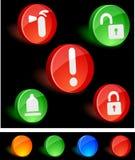 Sicherheits-Ikonen. vektor abbildung