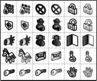 Sicherheits-Ikonen Stockfotos