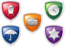 Sicherheits-Ikonen Lizenzfreies Stockbild
