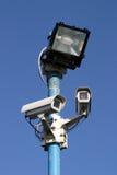 Sicherheits-Leuchte und Kameras Lizenzfreies Stockfoto