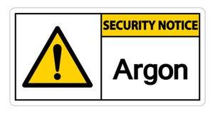 Sicherheits-Mitteilungs-Argon-Symbol-Zeichen auf wei?em Hintergrund, Vektor-Illustration stock abbildung