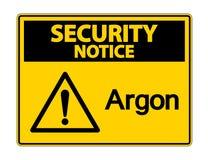 Sicherheits-Mitteilungs-Argon-Symbol-Zeichen auf wei?em Hintergrund, Vektor-Illustration lizenzfreie abbildung