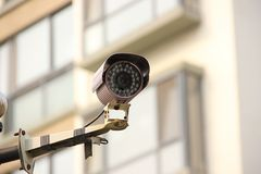Sicherheits-Monitor Stockfoto