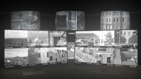 Sicherheits-Monitoren und Überwachungs-Raum stock footage