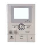 Sicherheits-Monitorsteuerungen mit Bildschirm Copyspace Stockfotografie