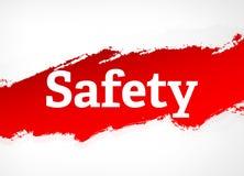 Sicherheits-rote Bürsten-Zusammenfassungs-Hintergrund-Illustration lizenzfreie abbildung