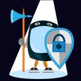 Sicherheits-Software Daten im Computer und in den beweglichen Systemanwendungen schützen stock abbildung