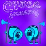Sicherheits-Software Daten im Computer und in den beweglichen Systemanwendungen schützen vektor abbildung