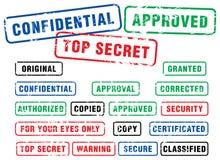 Sicherheits-Stempel Lizenzfreies Stockfoto