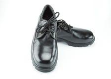 Sicherheits-Stiefel auf weißem Hintergrund Stockfoto