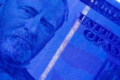 Sicherheits-Streifen in $50 Bill Lizenzfreie Stockfotos