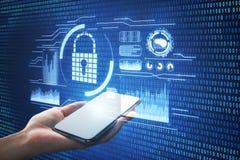 Sicherheits- und Netzkonzept Stockfoto