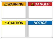 Sicherheits-Zeichen Stock Abbildung