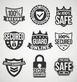 Sicherheitsaufkleber Stockfotografie