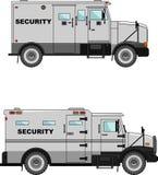 Sicherheitsauto auf einem weißen Hintergrund in einer flachen Art Stockfotos