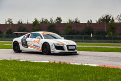Sicherheitsauto M&R Audis R8 Team lizenzfreie stockfotografie