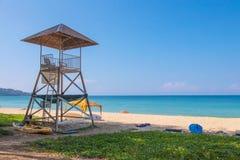 Sicherheitsbeamte auf dem Strand Lizenzfreies Stockfoto
