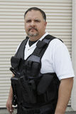 Sicherheitsbeamte In Bulletproof Vest Lizenzfreies Stockfoto