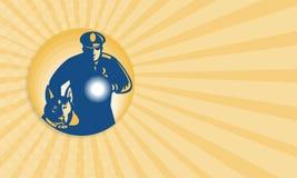 Sicherheitsbeamte Policeman Police Dog Lizenzfreie Stockfotografie