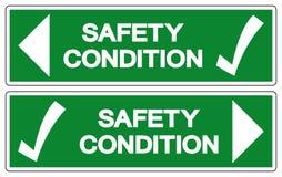 Sicherheitsbedingungs-Symbol, Vektor-Illustration, Isolat auf wei?em Hintergrund-Aufkleber EPS10 vektor abbildung