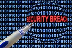 Sicherheitsbruch-Symbolismus lizenzfreie stockbilder