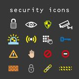 Sicherheitsikonen Lizenzfreie Stockfotografie