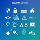 Sicherheitsikonensatz Lizenzfreie Stockfotografie