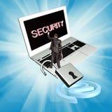 Sicherheitsinternetanschlusstechnologien Stockbild