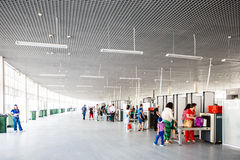 Sicherheitskontrollpunkt am Eingang zum Sochi-Olympiapark Lizenzfreie Stockfotos