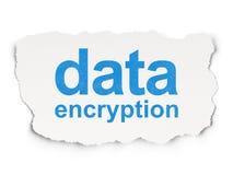 Sicherheitskonzept: Daten-Verschlüsselung auf Papier stock abbildung