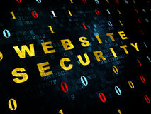 Sicherheitskonzept: Website-Sicherheit auf Digital Stockfoto